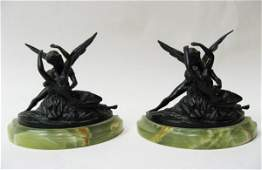 11 A Pair of Bronze Figural Bookends