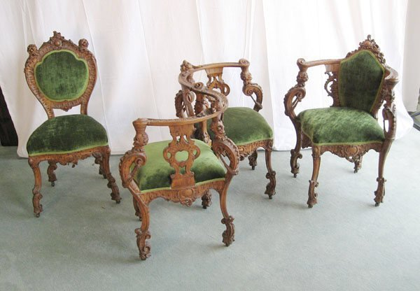 1: An Early Walnut Parlor Grouping,