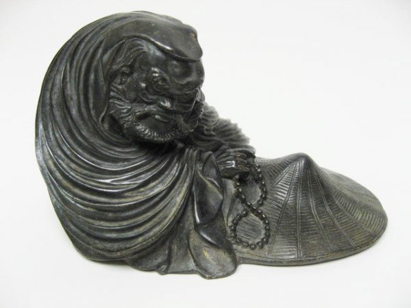 14: Chinese Bronze Figure of an Arhat