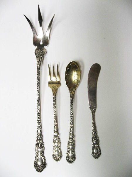 "445: ""Imperial Chrysanthemum"" Sterling Flatware, - 2"