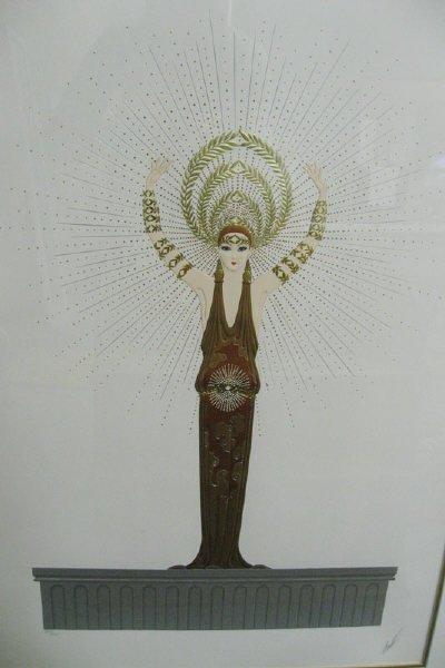 1006: Erte Lithograph, Goddess in 1920s Garb