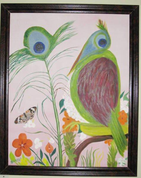 1011: Bernice Barsel Oil on Canvas Modern Still Life