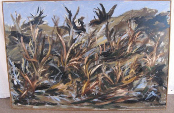 1013: Sue Mitchell Landscape, Oil on Canvas
