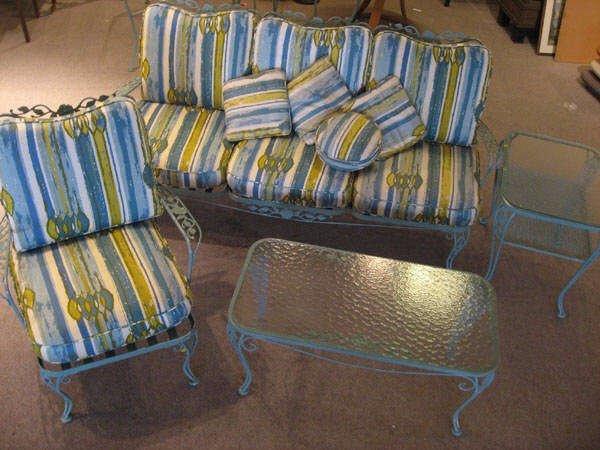 1017: Four Pieces Russel Woodard Patio Furniture