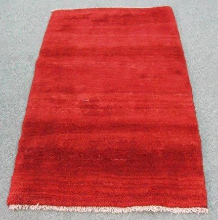 "1021: Solid Red Gabeh Rug, 4'8"" x 2'10"""