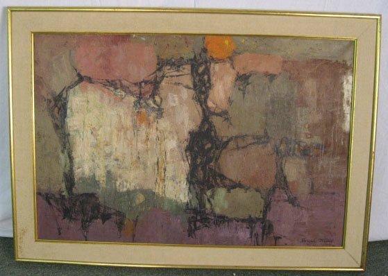 1357: Joseph Mcort (?) Abstract Landscape
