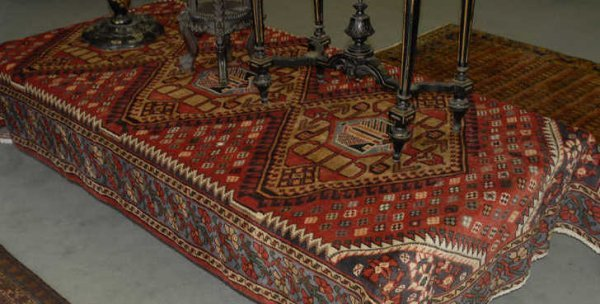 """1005: Persian Mussil Rug, 5'4"""" x 9'9"""""""