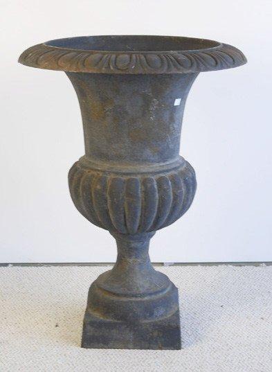 1014: An Early Cast Iron Garden Urn,