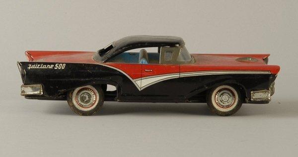 1611: 1957 Tin Ford Fairlane 500 Coupe Toy Replica,