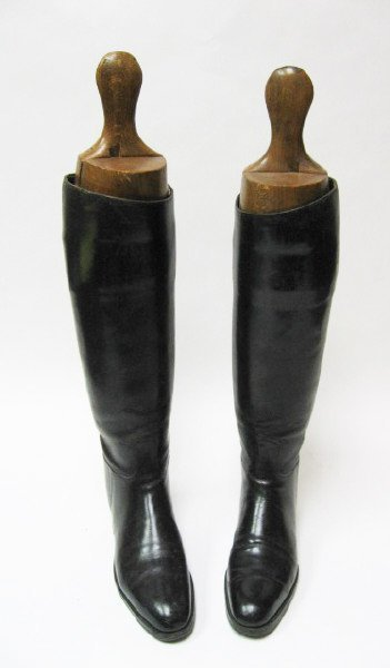 6: Pair English Riding Boots with trees, c.1900,