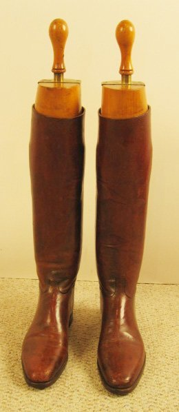 10: Pair English Riding Boots with trees c. 1930,