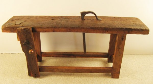 11: Old French Wooden Work Bench Lyon c. 1875,
