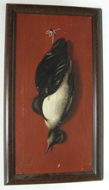 14: Oil on Canvas Game Bird, from Maine, late 19th c.
