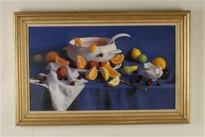 514: A W. Charles Nowell Painting, a still life with so