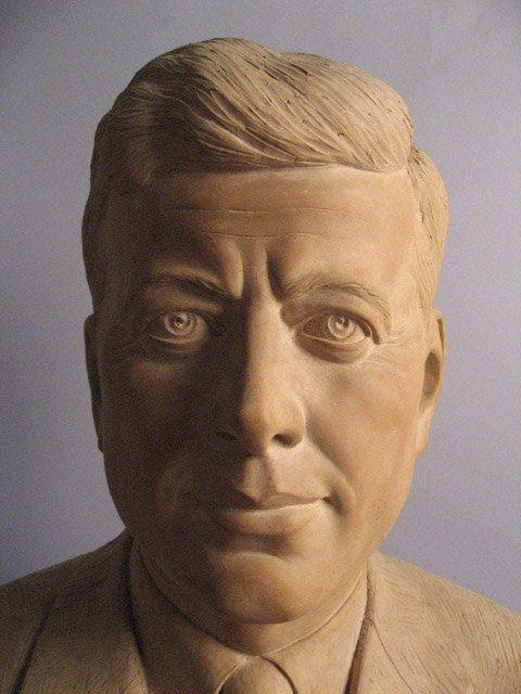4: JFK Jr. Ceramic Bust, unsigned