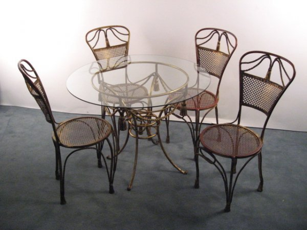 8: A Carole Stupell Gilt Metal Breakfast Set,