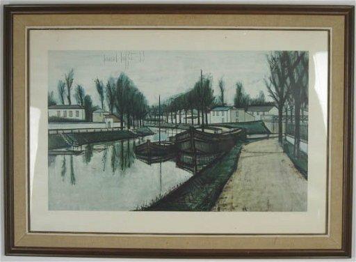 Brilliant 212 Bernard Buffet Canal Print Home Interior And Landscaping Spoatsignezvosmurscom