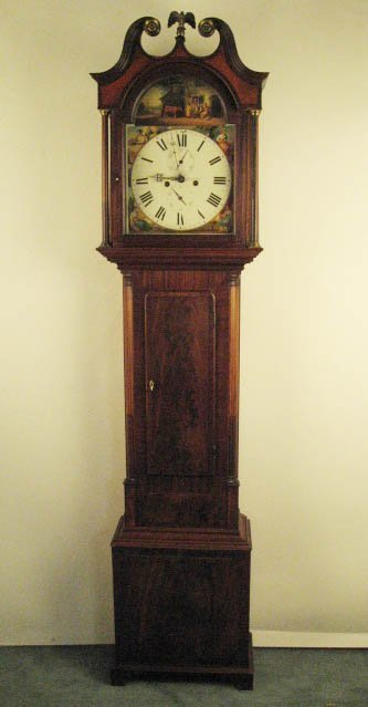 1011: An E 19th C Scottish Tall Case Clock,