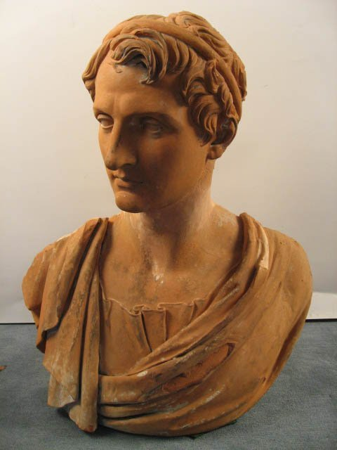 1012: An E 19th C Terra Cotta Bust,