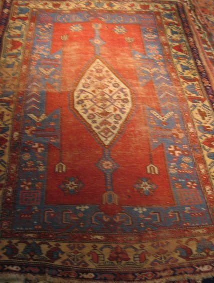 1014: Antique Bidjar Kurdish Rug