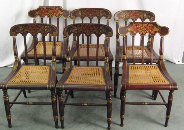 2: Six Fancy Chairs, four E 19th C, two reproductions,