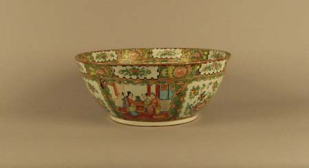 7: Chinese Rose Medallion Punch Bowl