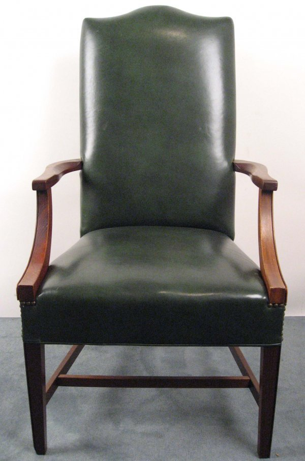 12: Eight High-back Open Arm Chairs,