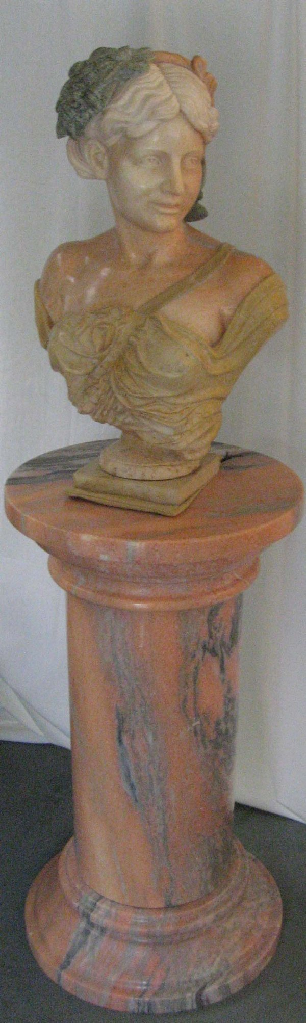 15: A Marble Bust and Column,