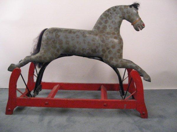 17: A L 19th C Glider Rocking Horse,
