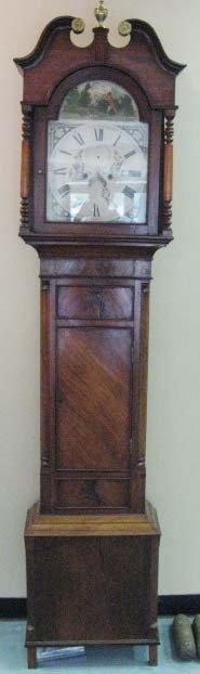 19: A L 18th/E 19th C English Tall Case Clock,