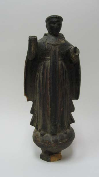 22: An Early Carved Wood Religious Figure,