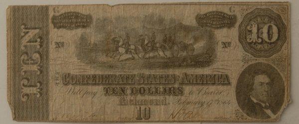 10: Confederate $100 Bill Richmond 2/17/1864