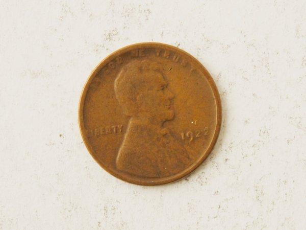 21: 1922 Lincoln Cent-plain (Error)