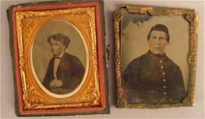 381 Ambrotype of Young Man in uniform