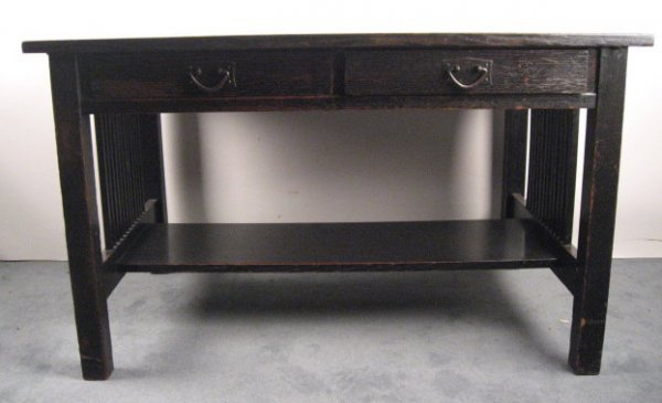 1007: A Gustav Stickley Library Table,
