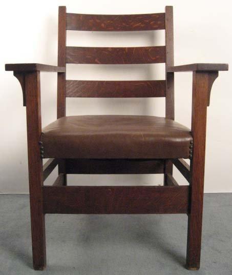1008: An Arts & Crafts Oak Arm Chair,