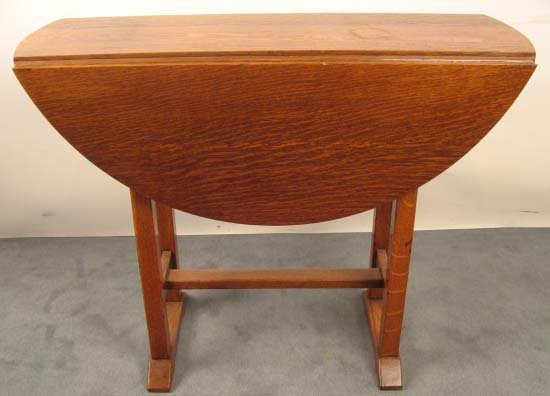 1009A: A 1909 Stickley Drop Leaf Table,