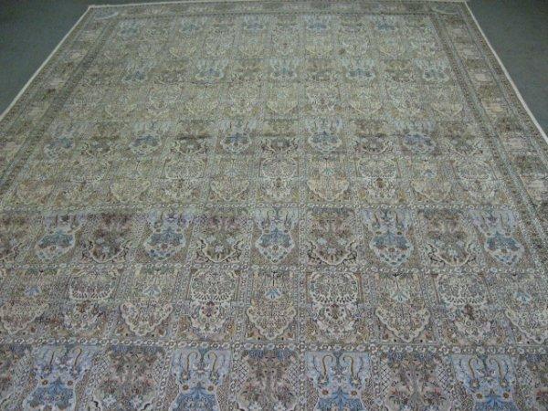 """1014: Indian Kashmir Silk (?) Rug, 12' x 17'6"""""""