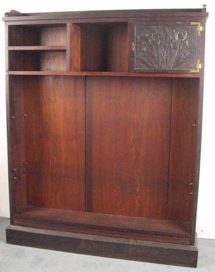 1017: An Arts & Crafts Carved Bookshelf,