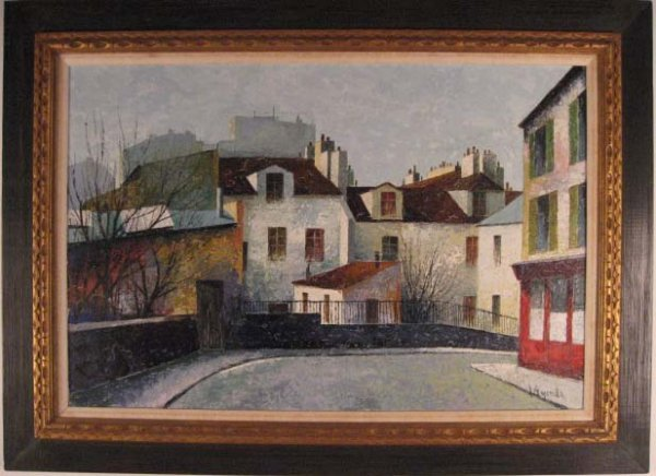1018: A Vayreda Oil on Canvas Painting,
