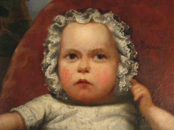 1535: A 19th C Baby's Portrait, - 3
