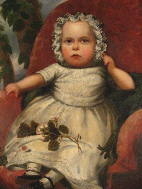 1535: A 19th C Baby's Portrait, - 4
