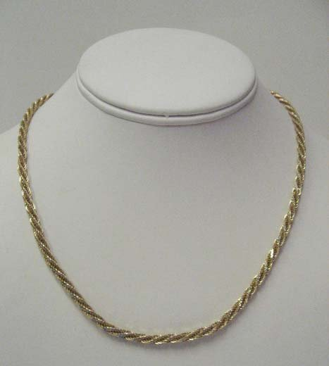 2019: 14k Yellow Gold Rope Necklace