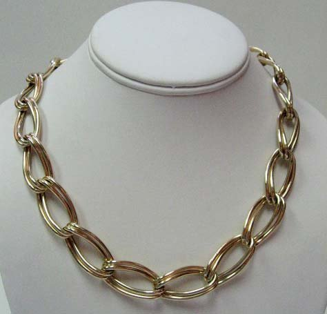 2026: 14k Yellow Gold Hollow Double Curb Link Necklace