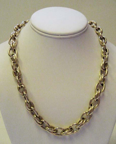 2028: 14k Yellow Gold Hollow Cable Link Necklace