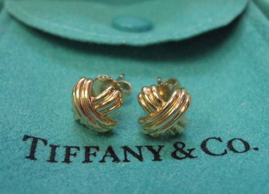 2035: 18k Yellow Gold Pair of Tiffany & Co. Earrings