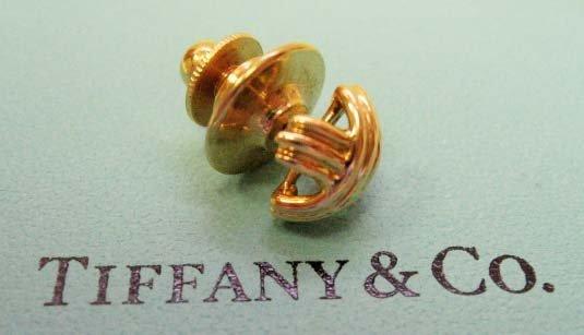 2036: 18k Yellow Gold Tiffany & Co. Signature Tack Pin