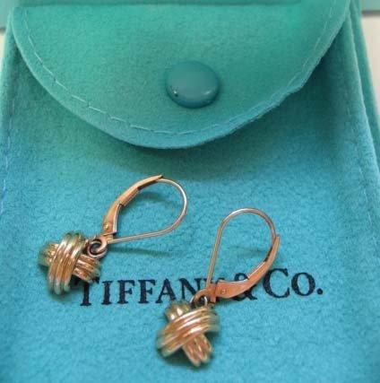 2037: 18k Yellow Gold Tiffany & Co. Drop Earrings