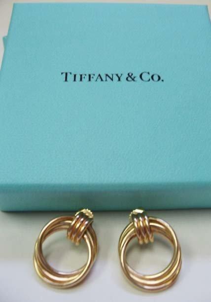 2038: 14k Yellow Gold Tiffany & Co. Earrings