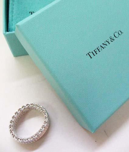 2039: Sterling Silver Tiffany & Co. Flexible Mesh Ring